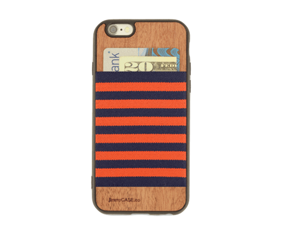 Picture of JimmyCase IPHONE 6/6S WALLET CASE (Blue/Orange Color)