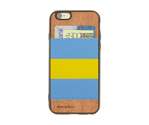 Picture of JimmyCase IPHONE 6/6S WALLET CASE (Yellow/Blue Color)
