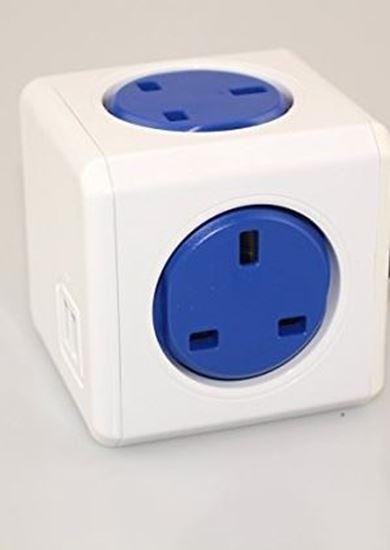 صورة وصلة المكعب الذكي USB مع سلك 1.5م (اللون الأزرق)